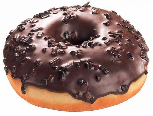 Black Crumble Donut